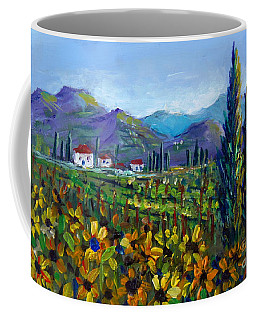 Tuscany Sunflowers Miniature Coffee Mug by Lou Ann Bagnall