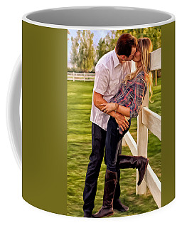 Twas Not My Lips You Kissed But My Soul Coffee Mug by Michael Pickett