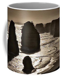 Twelve Apostles #3 - Black And White Coffee Mug