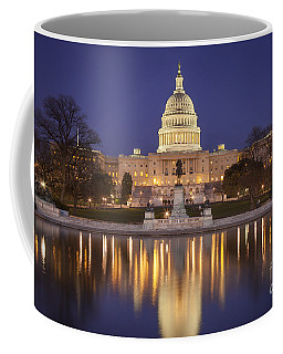 Coffee Mug featuring the photograph Twilight At Us Capitol by Brian Jannsen