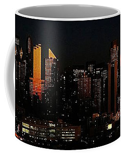 Coffee Mug featuring the photograph Twilight Reflections On New York City by Lilliana Mendez