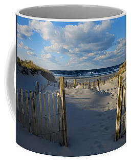 Coffee Mug featuring the photograph Golden Hour Beach by Dianne Cowen