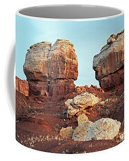 Twin Rocks At Sunrise Capitol Reef National Park Coffee Mug