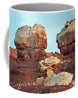 Twin Rocks At Sunrise Capitol Reef National Park Coffee Mug