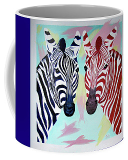Coffee Mug featuring the painting Twin Zs by Phyllis Kaltenbach