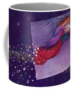 Coffee Mug featuring the painting twinkling Angel with star by Judith Cheng