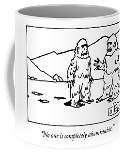 Two Abominable Snowmen Talk To Each Other Coffee Mug