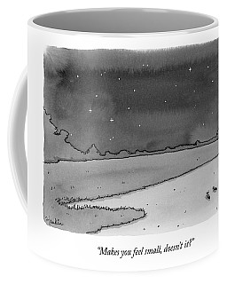 Two Ants Gaze Up At The Stars Coffee Mug