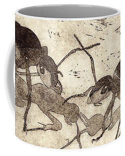 Two Ants In Communication - Etching Coffee Mug