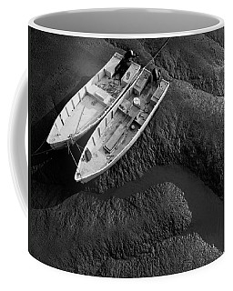 Two Boats At Low Tide Coffee Mug