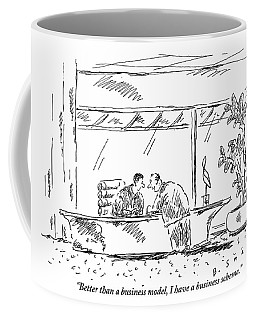 Two Businessmen At A Meeting Discussing Business Coffee Mug