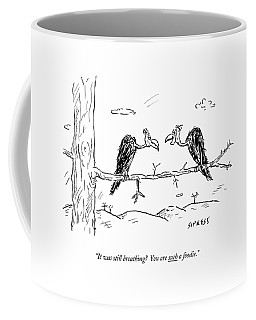 Two Buzzards Sit And Talk On A Branch Coffee Mug