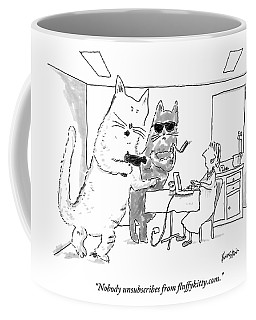 Two Cats Threaten An Old Lady Coffee Mug