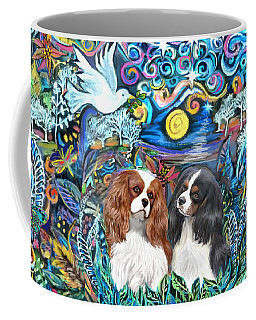 Two Cavaliers In A Garden Coffee Mug