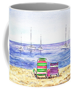 Two Chairs On The Beach Coffee Mug