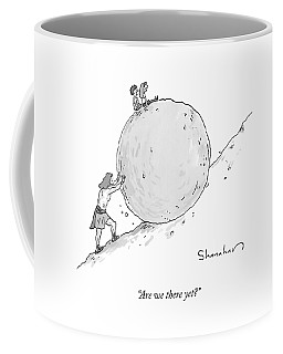 Two Children Sit At The Top Of Sisyphus's Boulder Coffee Mug