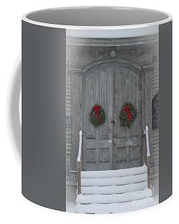 Two Christmas Wreaths Coffee Mug