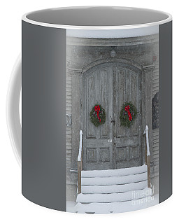 Two Christmas Wreaths Coffee Mug