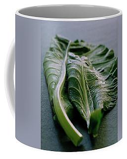 Two Collard Leaves Coffee Mug
