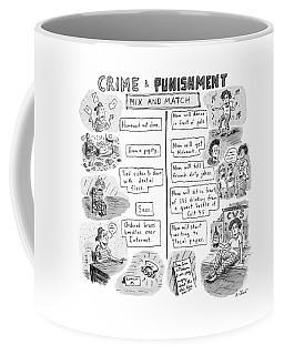Two Columns Contain Entries. The Left Column Coffee Mug