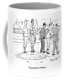 Two Cops, One In Plain Clothes, Arrest A Pitcher Coffee Mug