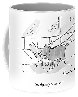 Two Dogs On Leashes Coffee Mug