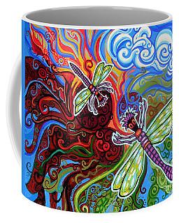 Two Dragonflies Coffee Mug