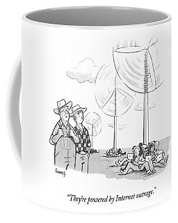Two Farmers Overlook Wind Fans Coffee Mug
