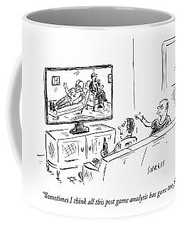 Two Football Fans Watch Tv Coffee Mug