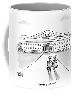 Two Generals Walking Away From The Pentagon Coffee Mug