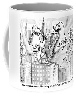 Two Godzillas Talk To Each Other Coffee Mug