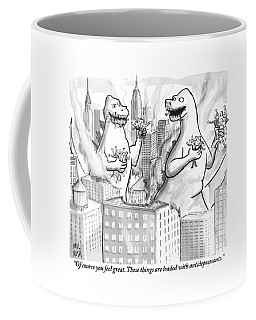 Two Godzillas Talk To Each Other Coffee Mug