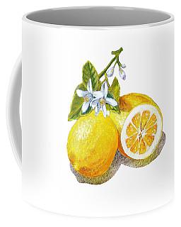 Two Happy Lemons Coffee Mug by Irina Sztukowski
