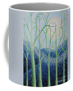 Coffee Mug featuring the painting Two Hearts by Holly Carmichael