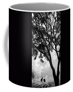 Two Heron - Black And White Coffee Mug