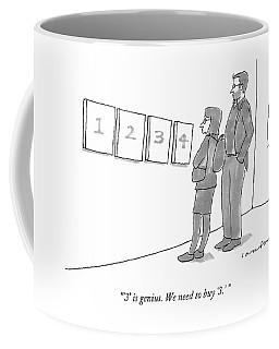 Two Hip-looking People In A Gallery Coffee Mug