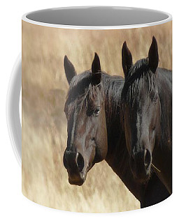 Two Horses Coffee Mug by Ernie Echols