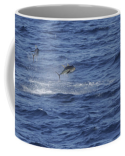 Two Jumping Yellowfin Tuna Coffee Mug