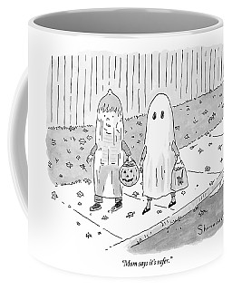 Two Kids Go Trick Or Treating Coffee Mug