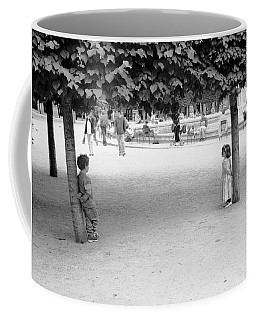 Two Kids In Paris Coffee Mug
