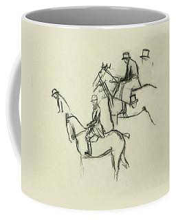 Two Men Horse Riding Coffee Mug