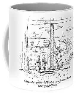 Two Men Standing In An Apartment Coffee Mug