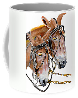 Two Mules - Enhanced Color - Farmer's Friend Coffee Mug