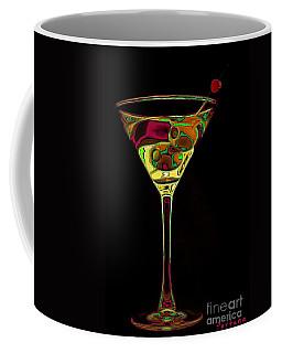 Coffee Mug featuring the digital art Two Olive Martini by Dragica  Micki Fortuna
