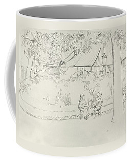 Two People At A Small Park Coffee Mug