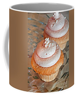 Two Pink Cupcakes Art Prints Coffee Mug by Valerie Garner