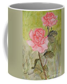 Two Pink Roses Coffee Mug