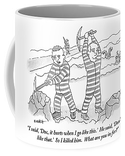 Two Prisoners Are Seen Working On The Side Coffee Mug