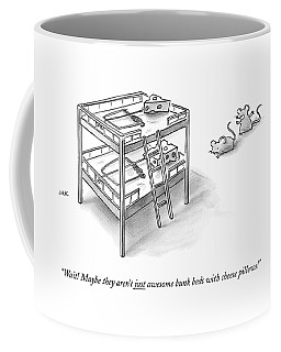 Two Rats Approach An Obvious Rat Trap On A Bunk Coffee Mug