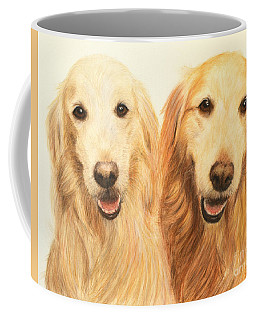 Two Retrievers Painted Coffee Mug